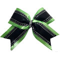 Geometric rhinestone green cheer bowtique patterns