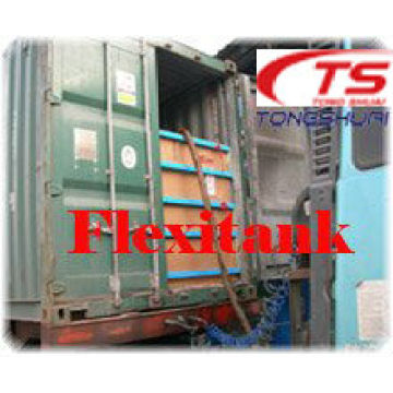 Flexibag in shipping container for liquid