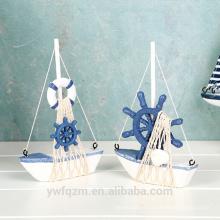 Barco de navegación de madera decorativo de lujo al por mayor