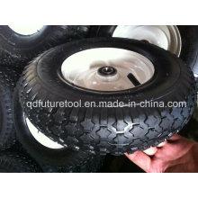 13 14 15 roda de borracha da roda pneumática do pneumático do carrinho de mão de 16 polegadas
