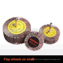 rueda de aleta abrasiva