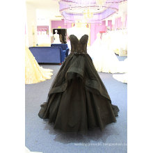 Black Tulle Sash Ball Prom Cocktial Evening Dress