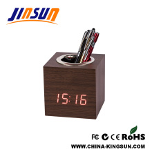 New Led Clock With Pen Holder Temperature Display