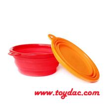 Farbe Silikonfalte Pet Bowl