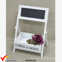 Pequeno casamento rústico flor de madeira arranjar Stands