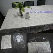Popular pvc table cloth, lace plastic tablecloths