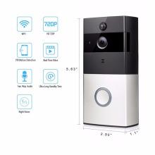 Timbre video elegante de WiFi, teléfono video inalámbrico de la puerta, cámara del Wi-Fi del IP