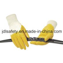 Nitril-Handschuh / Nitril getaucht /Interlock Liner mit gelben Nitril (NY1711)