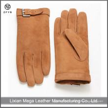 Hombres guantes de cuero de gamuza al por mayor guantes de cuero de cerda