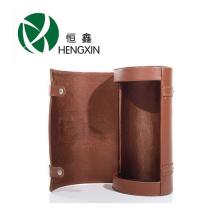 Винная коробка с ручкой из искусственной кожи с ручкой