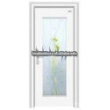 Последние дизайн стали деревянные стеклянные двери JKD-2012(E)
