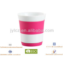 ceramic mug with silicone sleeve