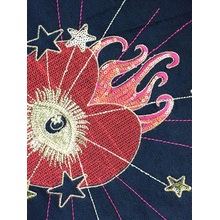 Peça de corte de roupa mais recente bordado de peça de conta de bordado