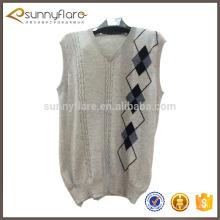 Mens cashmere sweater vest,sleeveless sweater vest for men