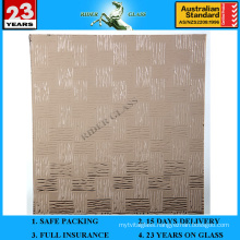 3-8mm Bronze Weaver Patterned Figure Glass with AS/NZS 2208
