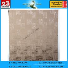 Vidro com figura padrão de tecelão de bronze de 3-8mm com AS / NZS 2208