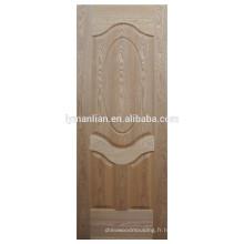 Peau de porte en placage de bois naturel MDF moulé
