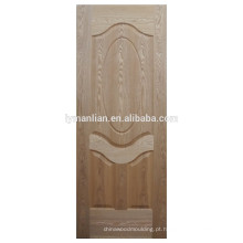 pele de madeira natural da placa da porta porta moldada pele de madeira da porta do folheado do carvalho de madeira