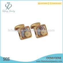 Meistverkaufte Golduhr Manschettenknopf, Kupfer Manschettenknopf für Frauen, handgemachte Manschettenknöpfe
