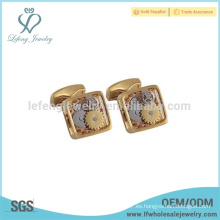 Mancuerna de reloj de oro de venta superior, cufflink de cobre para las mujeres, mancuernas hechas a mano