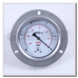 High quality all stainless steel back connection vacuum capsule pressure gauge with flange