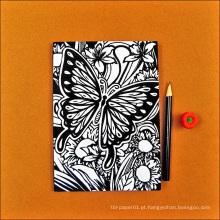 Caderno personalizado que imprime a escola de papel recicl caderno