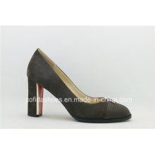 New Grey Leather Sexy High Heels Women Shoe
