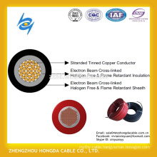 Low Voltage aluminum / copper flexible solar photovoltaic cable