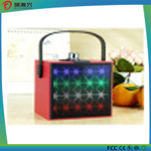 Cubic Wireless Mini Bluetooth Speaker with LED Flash Light