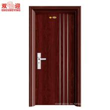 Diseño de puerta principal de acero inoxidable individual