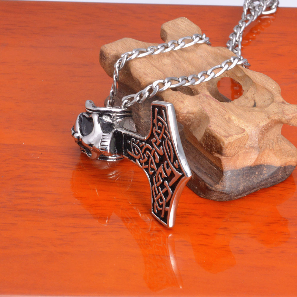 Custom Stainless Steel Casting Necklace Skull Head Pendant