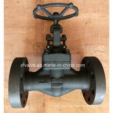 API602 de alta presión 1500lb de acero forjado de brida final globo de la válvula