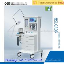MSLGA06 Günstige Hochwertige medizinische Ausrüstung Anästhesie Ventilator mit zwei Arten von Verdampfer
