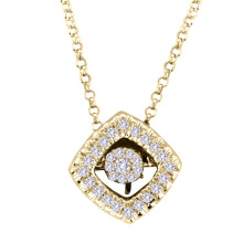 18k Gold Dancing Diamond Jewelry 925 Silver Pendants Necklace