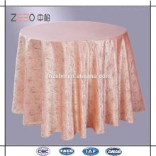 Paño de tabla de lujo de la boda del lino de tabla del satén del rosetón del poliester del 100% para la venta