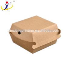 Forma personalizada! Embalagem de fast food para alimentos levar embora caixa atacado