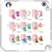 2017 moda colorida unhas pele adesivos manufactred na China