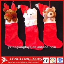 Neues Design Tier geformt Plüsch Weihnachten Socken für 2013