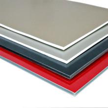 3mm / 4mmPE / PVDF revêtement en aluminium composite fabricant de panneaux avec des prix compétitif