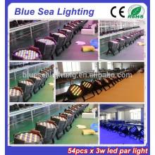 2015 hotsale 54pcs x 3w dj light disco light rgbw led par light