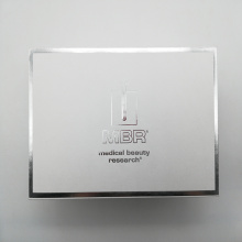 Silver Stamping Square White Packaging Makeup Cosmetic Box