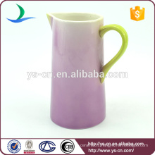 Wholesale hand painted ceramic bathroom purple jug