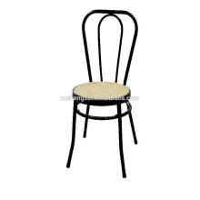 Leisure Metal Chair, Black Steel Tube Bar Chair Backrest