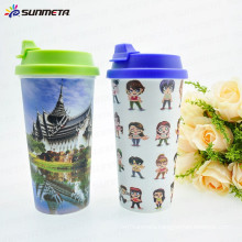 Sublimation High Temperature resistance plastic photo printing cup