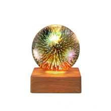 For Gift Creative Romantic Starry Sky Fireworks Atmosphere Glass Night Bedside Lamp