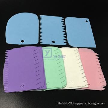 Plastic 3pcs comb cake scraper smoother decorating tool icing set edge scraper cutter