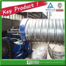 Espiral corrugado posttension tubería de formación de la máquina