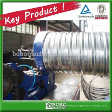 Spiral corrugated posttension pipe forming machine