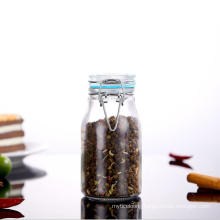Food Packaging Toq Quality Round Shape Glass Spice Jars with Airtight Ss Clip Lids