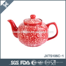 Tetera de cerámica china pintada a mano 6cup coloreada